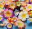 50//100Pcs 4.5 cm flottant Frangipani Plumeria Hawaiian Fleurs Têtes Mariage