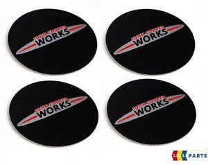 Mini-Nouveau-OEM-R52-R53-R54-R55-R56-R57-R58-R59-JCW-Logo-Center-Cap-Stickers-4-pcs