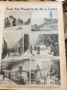 M5-2-Ephemera-1918-1-Page-Cambrai-Lancashire-Regt-Enter-Town