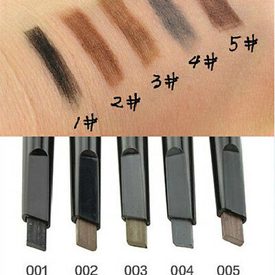 5 Colors × Automatic Makeup Cosmetic Eyebrow Pencil Eye Liner Beauty Tools