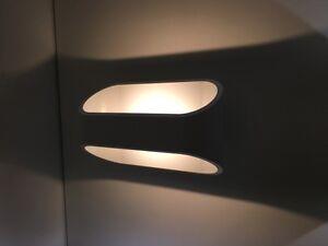 Applique da parete ovale luce muro design moderno lampada