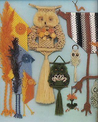 Retro 1979 Macrame Owl Patterns Macrame is for the Birds Craft Book #PD1054
