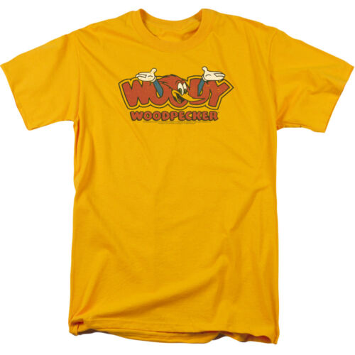 Woody Woodpecker Cartoon WOODY IN LOGO Licensed Adult T-Shirt All Sizes