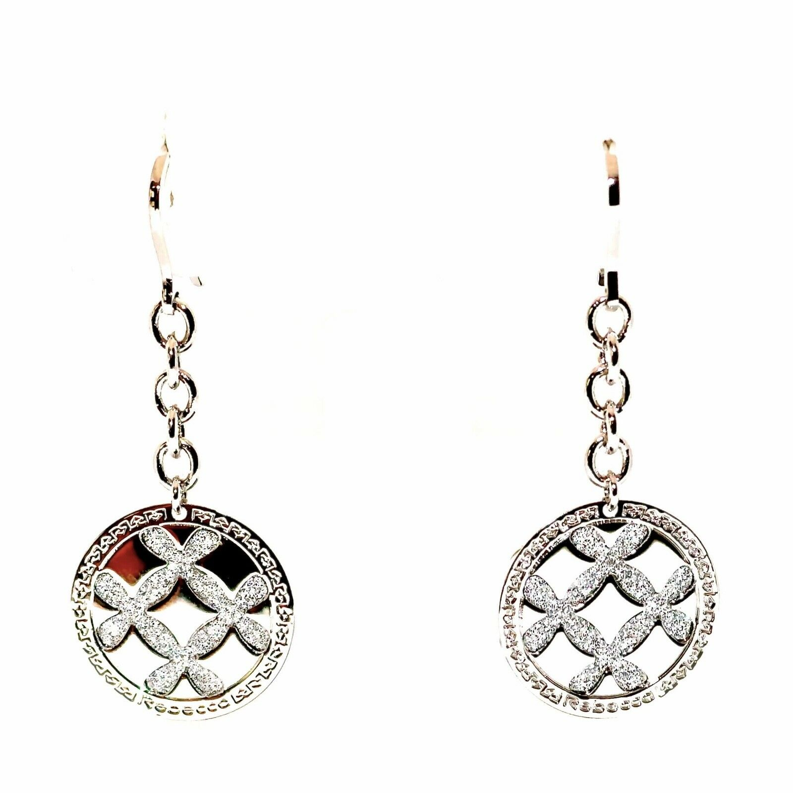 Rebecca Small Circle Chain Earrings in Stainless Steel