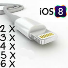 8 Pin USB Cable Sync Charger Cord Data iPhone 7 Plus 6 6S 5S 5C CERTIFIED IOS 10