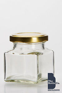 40-X-130ml-4oz-approx-SQUARE-JAM-PRESERVE-PICKLE-GLASS-FOOD-JAR