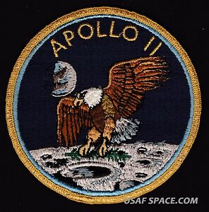 SCARCE-APOLLO-11-NASA-GRUMMAN-VINTAGE-ORIGINAL-NASA-CLOTH-BACK-SPACE-PATCH