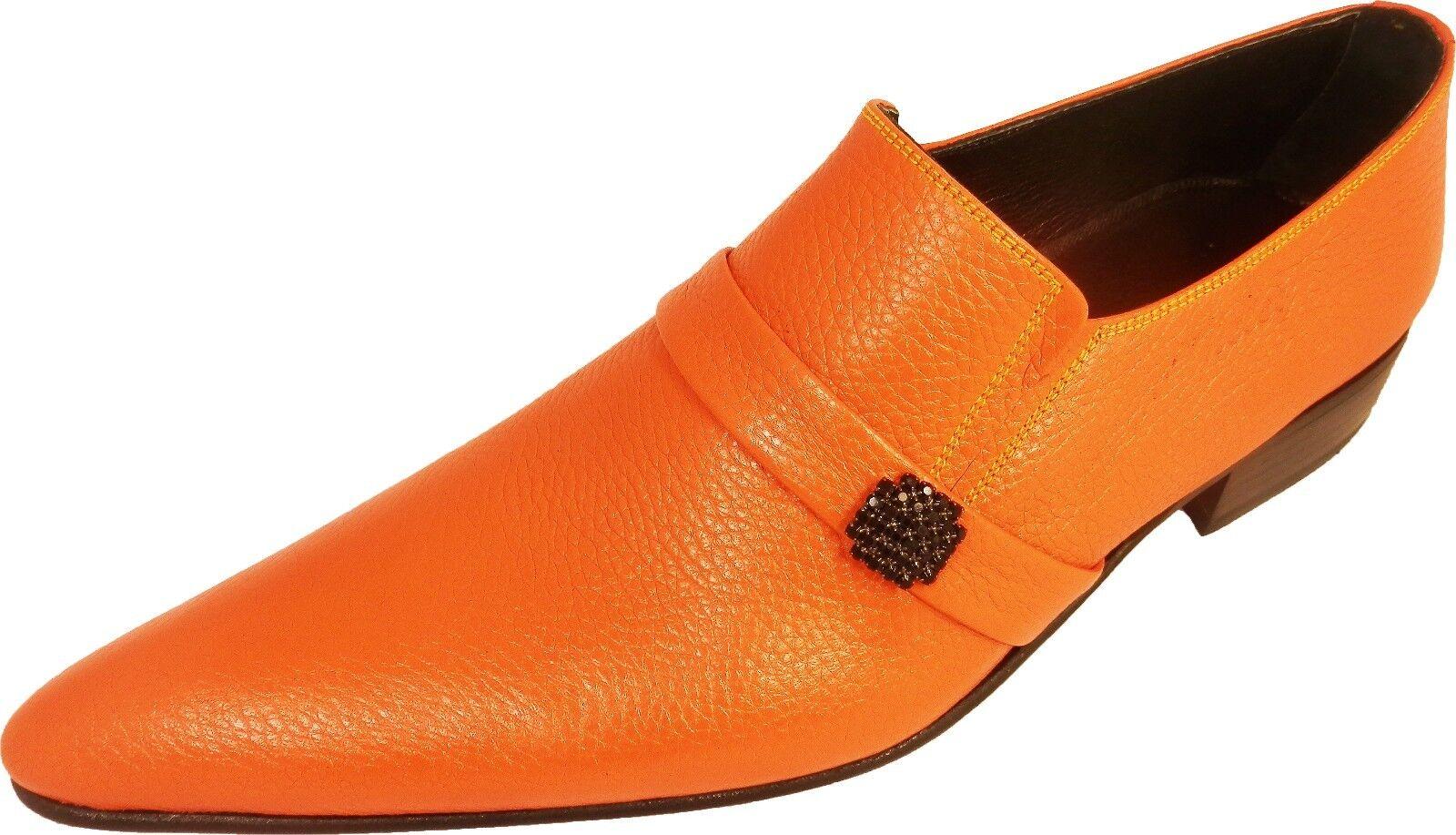 Scarpe casual da uomo  Chelsy-Designer Italiano Slipper orange pattern arance GUSCIO pagine SPILLA