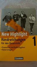New Highlight 1  Handreichungen für den Unterricht Cornelsen, Mittelschule