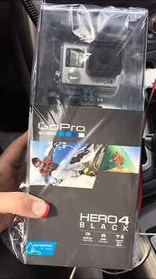 GOPRO HERO4 BLACK CAMERA 4K CHDHX-401 NEW 2015 HD HELMET CAMERA+Lens Caps+32GB