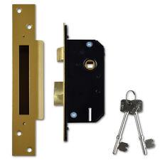 Willenhall Locks M3 5 Lever Mortice Door Sashlock 50mm Brass Keyed Alike L11428