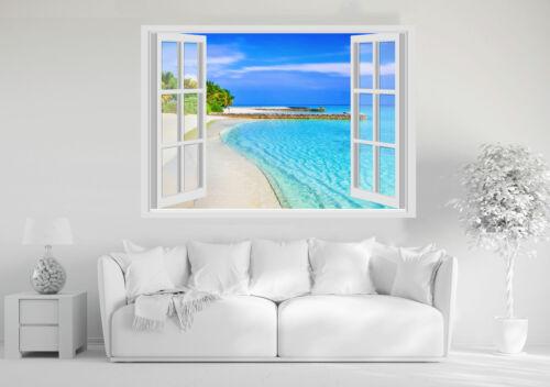 MARE OCEANO SPIAGGIA Adesivi Murali Finestra Wall Stickers 3D VINILE