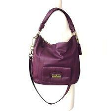 Coach Kristin Purple Raisin Leather Hobo Shoulder Bag 14786