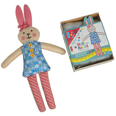 dotcomgiftshop MAKE YOUR OWN RABBIT RAG DOLL FELT CRAFT KIT