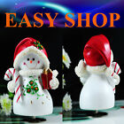 16cm Music Box Snow Man Merry Go Round Christmas Gift Birthday Ornaments Kids