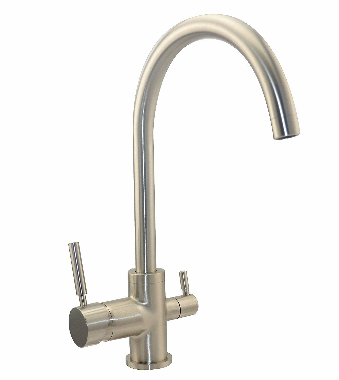 3 voies robinet rainbow ACIER INOXYDABLE LOOK pour Osmose Inverse insTailletions d'eau potable insTailletions