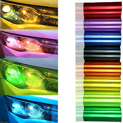 "12"" x 40"" Car Smoke Fog Light Headlight Taillamp Vinyl Film Sheet Sticker Wrap"