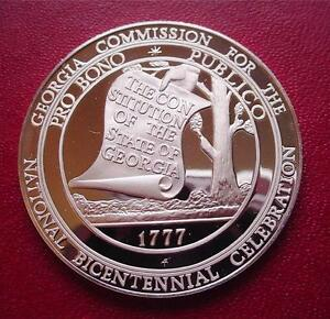 GEORGIA-Official-Sterling-Silver-Bicentennial-PROOF-Medal