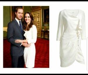 BNWT-Reiss-Nanette-Dress-Off-White-Sz-Uk14-US10-Kate-Middleton-Engagement