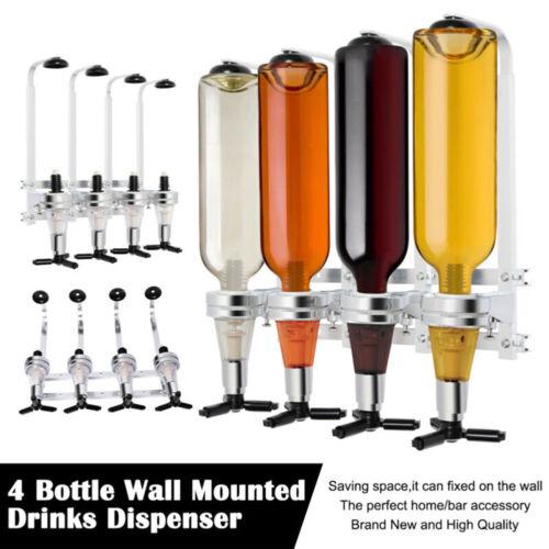 4 Flaschen Getränkespender Ständer An der Wand montiert Spirituosengetränk