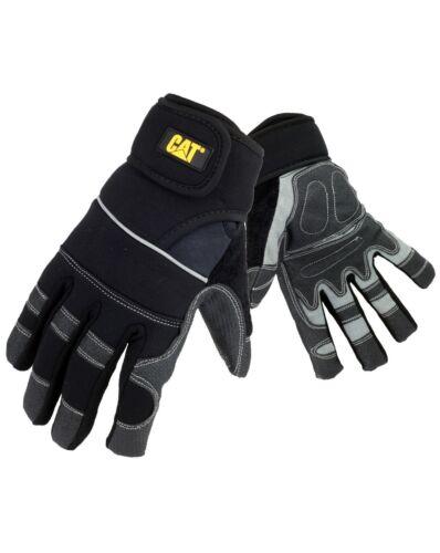 CAT Caterpillar Adjustable Gloves Water Resistant Durable Mens Work