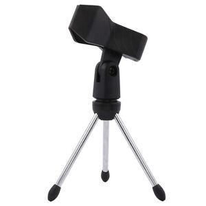 Desktop-Microphone-Stand-Non-Slip-Tripod-Mic-Stand-Holder-Universal-Spring-Clip