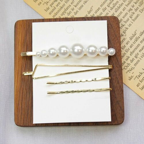 Charm Pearl Metal Hair Clip Comb Bobby Pin Barrette Hairpin Headdress Hairband