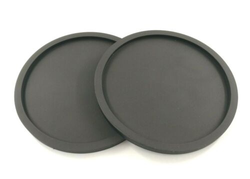 New Free Shipmet Round Black Coaster Nonslip Cup Mat Pad Drink Table Glasses Mat