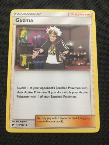 Pokemon SM BURNING SHADOWS GUZMA 115//147 UNCOMMON