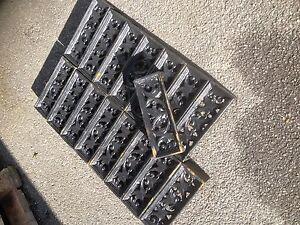 Cast iron air brick x 10 Acanthus Air Bricks Seconds Air Brick Building