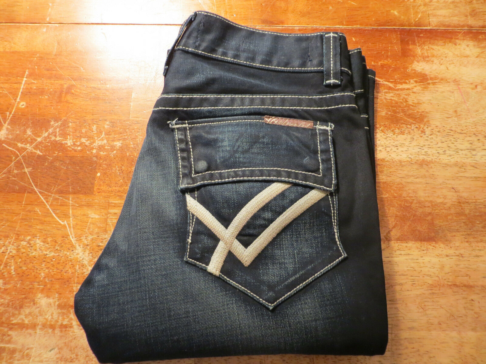 WILLIAM RAST WILLIAM ENGINEERED FLARE JEANS (NWOT)SIZE 32 x 29 AWESOME CHARACTER