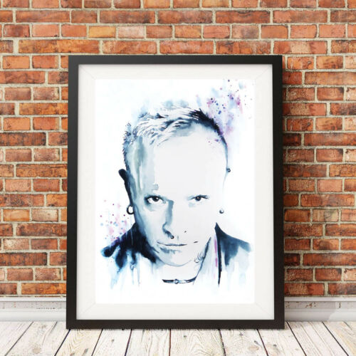 Emma Parrish Signed LIMITED EDITION PRINT of Original KEITH FLINT THE PRODIGY