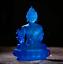12CM-Tibet-Tibetan-Buddhism-Resin-Lotus-Shakyamuni-Menla-Medicine-Buddha-Statue thumbnail 1