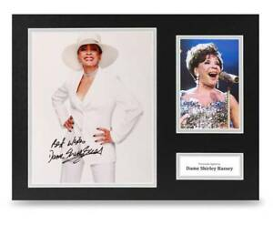 Dame-Shirley-Bassey-Signed-16x12-Photo-Display-Music-Autograph-Memorabilia-COA