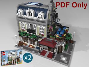 Lego-Custom-Modular-Anweisungen-Parisian-Restaurant-10243-PDF-nur