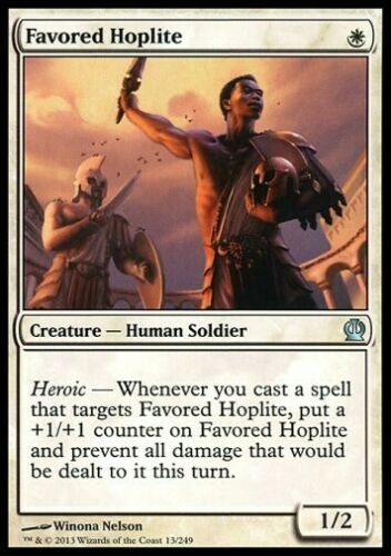 Theros *Soldier Heroic* MTG 4x FAVORED HOPLITE