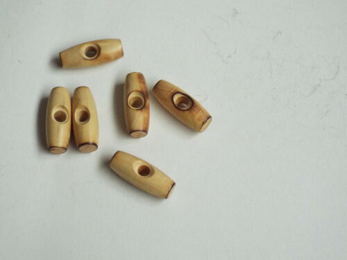 5pc 25mm Wooden single Hole toggle Button ideal for Duffle Trench coat 2368