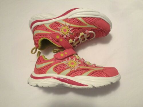 S Sport designed by Skechers Toddler Pink Yellow Sunburst Shoes Sneakers 7 11 12