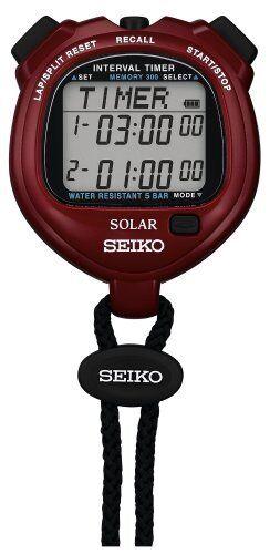 Reloj Seiko estándar Solar Stop [Rojo] svaj 103 Deportes Escuela Japón Nueva a1366