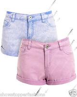 Womens Size 8 10 12 14 16 NEW JEAN SHORTS Ladies DENIM HOTPANTS Girls Blue Short