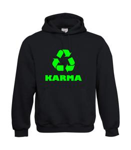 Karma-Recycling-Symbol-I-Radio-I-Patter-I-Fun-I-Funny-to-5XL-I-Men-039-s-Hoodie