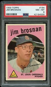 1959-Topps-BB-Card-194-Jim-Brosnan-St-Louis-Cardinals-PSA-NM-MT-8