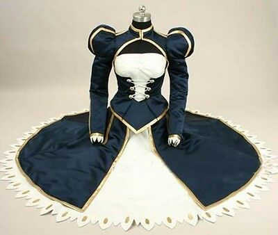 Fate Stay Night Saber Costume Cosplay Dress Anime Manga NEW