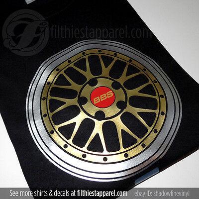 Bbs Lm Wheel T Shirt Bmw M3 E46 E92 Gt R Vw Audi New Ebay