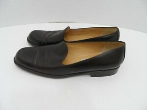 d4aa8063de COACH Women s Dark Brown Leather Loafer Shoes Size 8.5 AA Made In ...