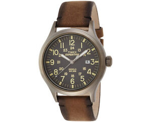 669768856c53 Men s Timex Expedition Scout Leather Strap Watch Tw4b01700 for sale ...