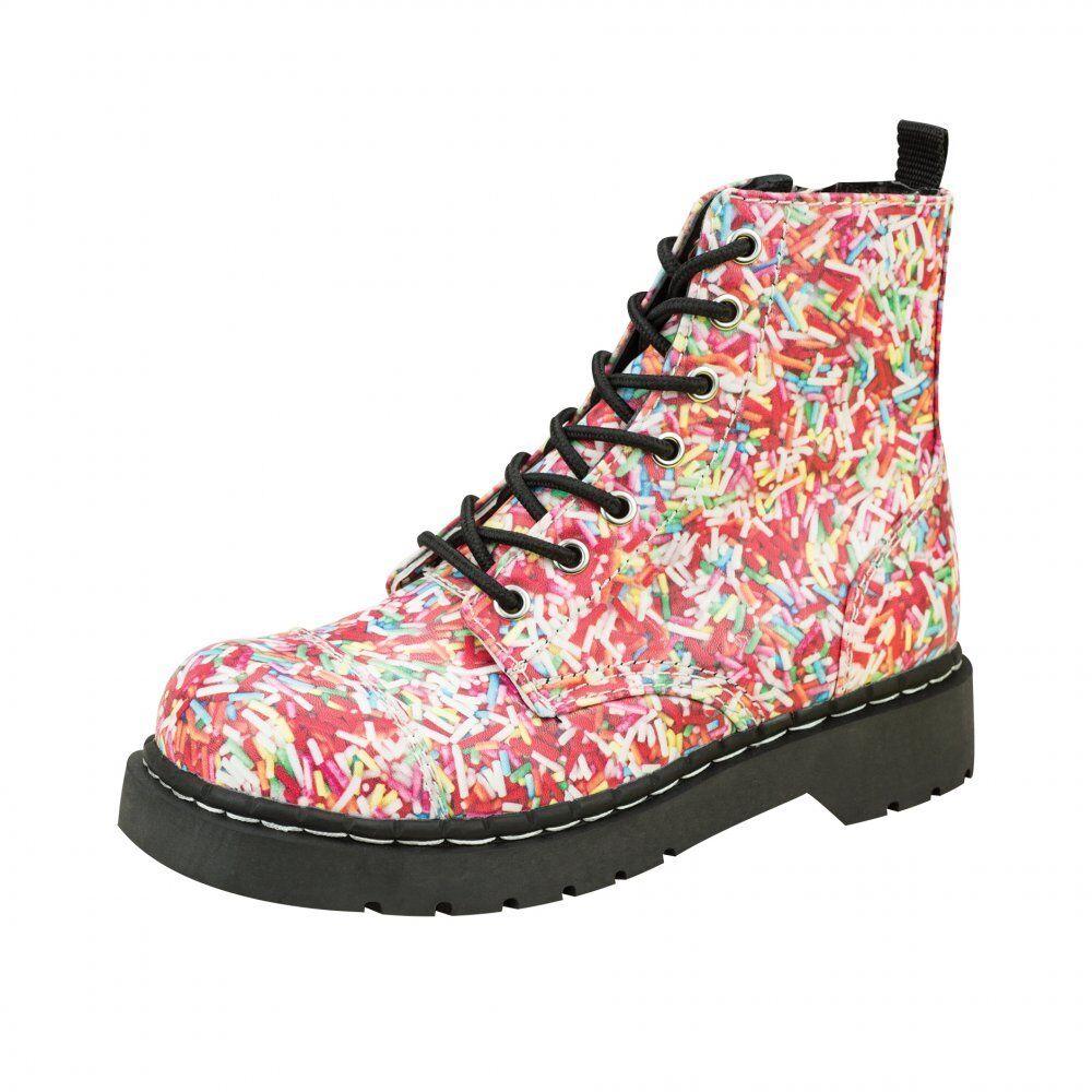 T.U.K. T2239 Tuk Shoes Shoes Tuk cientos & miles 7 Ojo Botas de combate Arco Iris De Zarzamora 844528