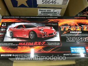 Tamiya-58648-1-10-RC-TT02-D-Chassis-Drift-Spec-Car-Kit-Mazda-RX-7-FD3S-w-ESC-LED