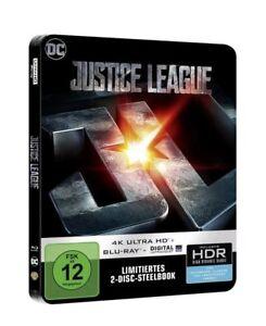 JUSTICE LEAGUE -- Limitiertes 2-Disc - STEELBOOK -- 4K Ultra HD + Blu-ray -- NEU