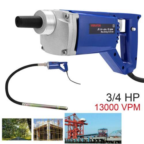 Electric Concrete Vibrator 3//4 HP Cement Air Bubbles Remover Level 13000 VPM